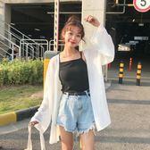 防曬衫 雪紡衫春季韓版女裝寬鬆長袖衫衣薄款防曬衣外套開衫上衣
