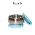 little.b 316 雙層不鏽鋼吸盤碗-寶貝藍