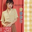 襯衫 Space Picnic|格紋單口袋設計短袖襯衫(預購)【C19053046】