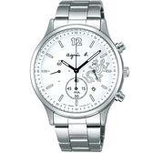 【人文行旅】Agnes b. | 法國簡約雅痞 FBRD968 太陽能時尚腕錶 40mm