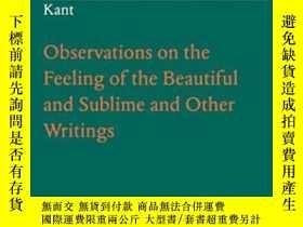 二手書博民逛書店Observations罕見On The Feeling Of The Beautiful And Sublime