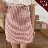 LULUS【A05210049】Y細格紋短裙S-XL2色