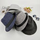 紳士帽 春夏天新款男士韓版小禮帽 女英倫復古爵士帽休閒紳士帽中年帽子 麻吉部落