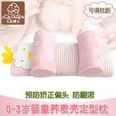 嬰兒枕頭防偏頭定型枕0-3-6個月-1-3歲新生兒糾正矯正偏頭寶寶枕  良品鋪子