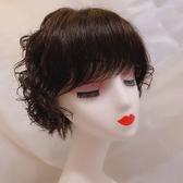 短假髮(整頂真髮絲)手織蓬鬆波浪捲髮女假髮2色73vr6[時尚巴黎]