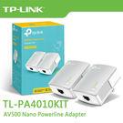 【免運費】TP-LINK TL-PA4010KIT AV500 電力線網路橋接器 (雙入裝) / TL-PA4010 Kit 電力橋接器