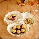 陶瓷雙層水果盤現代創意客廳歐式點心盤多層幹果盤零食盤子糖果盤 單層