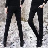牛仔褲男 夏季薄款彈力牛仔褲男士韓版修身青少年小腳褲潮男裝黑色男褲子長 米蘭街頭