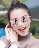 型男太陽眼鏡 韓國新款復古個性圓臉男女墨鏡前衛太陽鏡潮眼鏡小臉 卡菲婭
