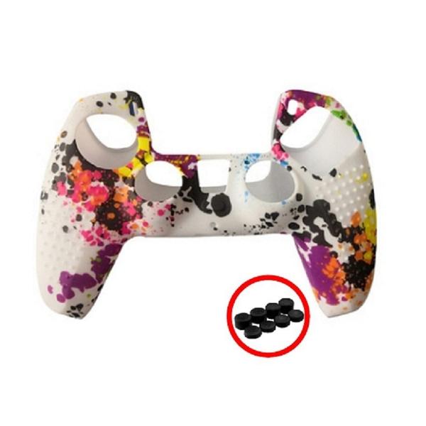 [2玉山網] 副廠 PS5 手柄 防滑顆粒保護套 (送4對矽膠搖桿帽) 適用 Sony Playstation 5