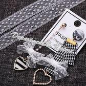 韓版蕾絲絲帶手工制作材料包耳釘耳環diy蝴蝶結發飾品鎖骨鏈配件   麻吉鋪