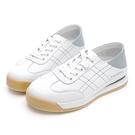 PLAYBOY 真皮復刻休閒鞋-米灰(Y7306)