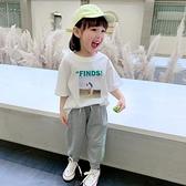 女童短袖T恤2020夏裝新款兒童洋氣韓版體恤寶寶純棉打底衫上衣潮 店慶降價