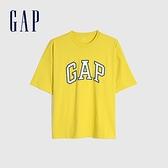Gap男女同款 Logo純棉圓領短袖T恤 688537-黃色