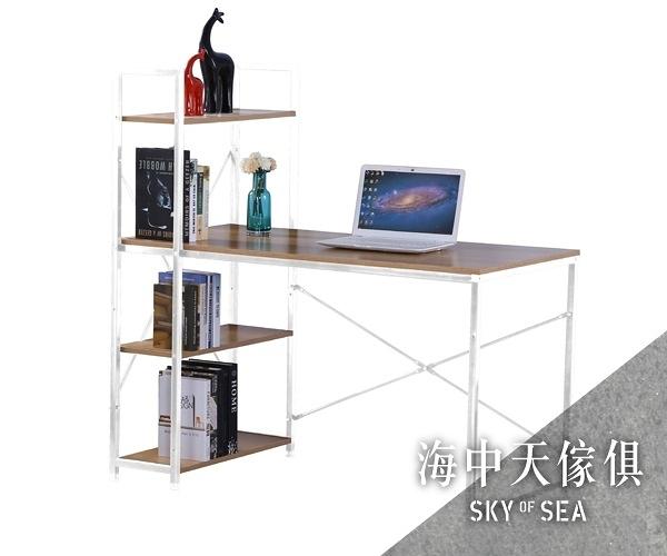 {{ 海中天休閒傢俱廣場 }} G-25 摩登時尚 書桌系列 825-3 艾美4尺本色白腳書架型書桌