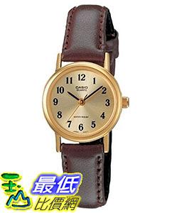 [美國直購] Casio Women s LTP1095Q-9B1 Brown Leather Quartz Watch with Gold Dial 女士手錶