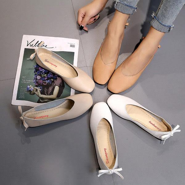 現貨娃娃鞋復古豆豆奶奶鞋方頭淺口低跟平底單鞋女韓版百搭女鞋 39/白色僅此一件2-7