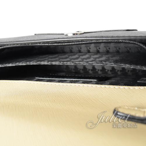 茱麗葉精品【全新現貨】KARL LAGERFELD 卡爾 老佛爺公仔造型三用翻蓋銀鍊包.黑