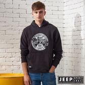 【JEEP】潮流迷彩冒險連帽TEE (黑)