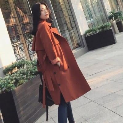 毛呢大衣-中長款時尚百搭修身舒適女風衣外套73ki39[巴黎精品]