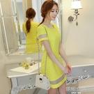 女裝韓版時尚修身氣質拼接打底裙洋裝女短裙 【韓語空間】