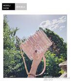 果凍包夏天透明果凍包包女新款韓版潮時尚chic鏈條小方包單肩斜挎包 免運