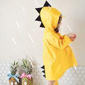雨衣 素色 雨披 可愛 立體 小恐龍 防水 兒童 雨衣【EL0001】 ENTER  09/13