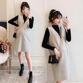 孕婦裝連衣裙秋冬款打底毛衣背心裙時尚洋氣兩件套 優拓