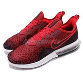 Nike 慢跑鞋 Air Max Sequent 4 紅 黑 氣墊 輕量透氣 氣墊 男鞋 運動鞋【PUMP306】 AO4485-006