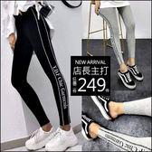 克妹Ke-Mei【AT48149】重推!完美比例 歐美字母彈力緊身運動內搭褲