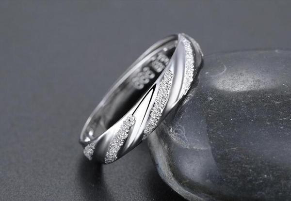 戒指 瑞諾999純銀戒指男士單身尾戒女個性韓版潮人開口情侶指環簡約 莎瓦迪卡