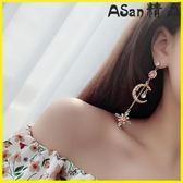 耳環-925純銀耳針月亮女神耳環顯瘦耳釘-艾尚精品 艾尚精品