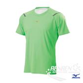 美津濃 MIZUNO 男短袖T恤 (螢光綠) 吸汗速乾 J2TA700835【 胖媛的店 】