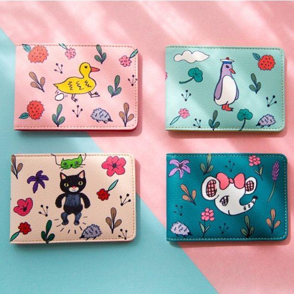 名片夾-花花動物證件套/卡片夾/悠遊卡夾-共4色-B280095-FuFu