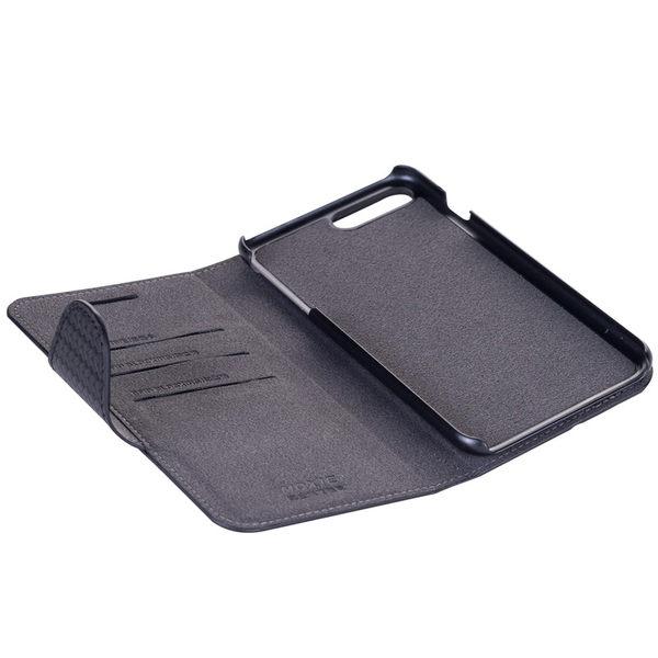 Moxie X-Shell iPhone 7 Plus / 8 Plus 真皮細格紋/編織紋 防電磁波手機套 真皮皮套 紳士黑