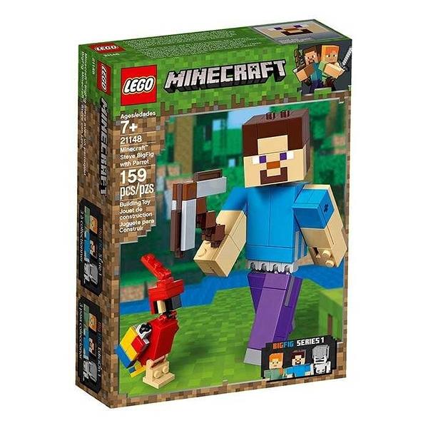 LEGO 樂高 MINECRAFT 創世神 Steve with Parrot 史蒂夫與鸚鵡 21148