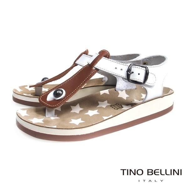 Tino Bellini 希臘進口幻想星芒T字夾腳平底涼鞋(棕) TF4277 2015SS歐洲進口款