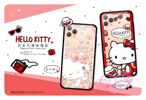 小花花日本精品Hello Kitty 手機保護套 手機殼 iphone手機殼 四角防撞玻璃殼 00145708