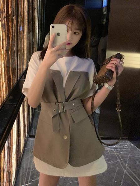 短袖洋裝-2020夏裝新款超仙女森系桔梗甜美法式初戀小心機顯瘦氣質洋裝子