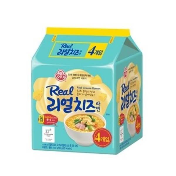 韓國不倒翁真起司醬拉麵-4入/袋 新推出起司粉+切達起司醬的雙倍起司