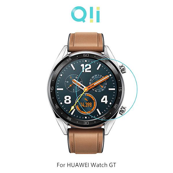 兩片裝 Qii HUAWEI Watch GT 運動/經典/活力款(46mm) 玻璃貼 鋼化玻璃貼 自動吸附 2.5D弧邊 手錶保護貼
