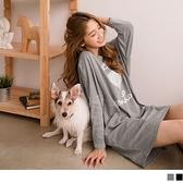《AB11495》台灣製造.愛心英文燙印長版上衣 / 洋裝--適 2L~6L OrangeBear