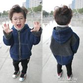 童裝男童牛仔外套秋冬新款寶寶羊羔絨外套加絨加厚韓版潮衣服-ifashion