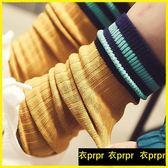 堆堆襪 4雙裝堆堆襪韓版學院風日系條紋襪子