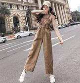 吊帶褲 女士新款春秋季韓版減齡寬鬆收腰顯瘦休閒洋氣褲子潮