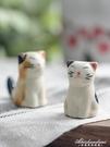 3個裝 日居日式和風招財貓陶瓷小貓筷架餐具筷枕筷托擺件筷子托 黛尼時尚精品