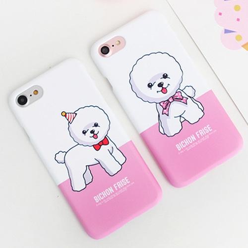 韓國 貴賓狗 硬殼 手機殼│iPhone 6 6S 7 8 Plus X XS MAX XR 11 Pro LG G7 G8 V40 V50│z8030