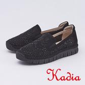 kadia.舒適水鑽簍空包鞋(9512-95黑色)