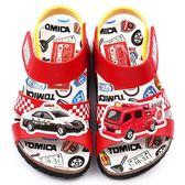 童鞋 / 卡通  / 兒童涼鞋  Tomica多美小汽車 中小童 軟木風格涼鞋-紅