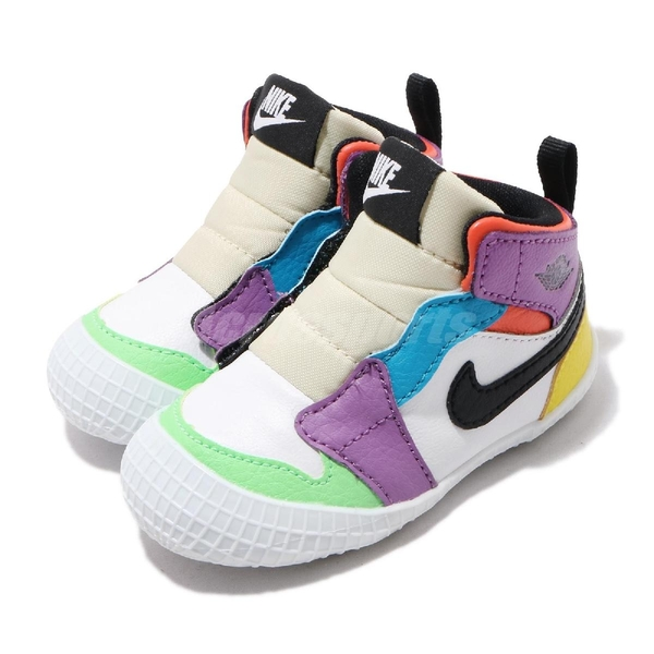 Nike Jordan 1 Crib Bootie 白 彩色 童鞋 小童鞋 學步鞋 【ACS】 AT3745-109